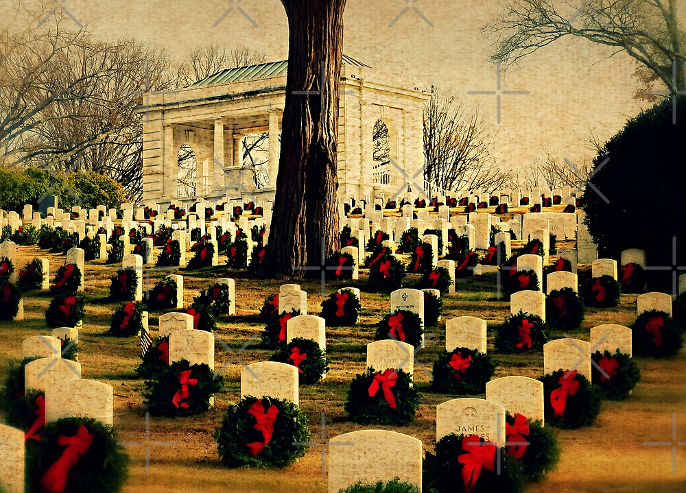 Christmas time at the federal cemetery - Marietta, Ga by Scott Mitchell