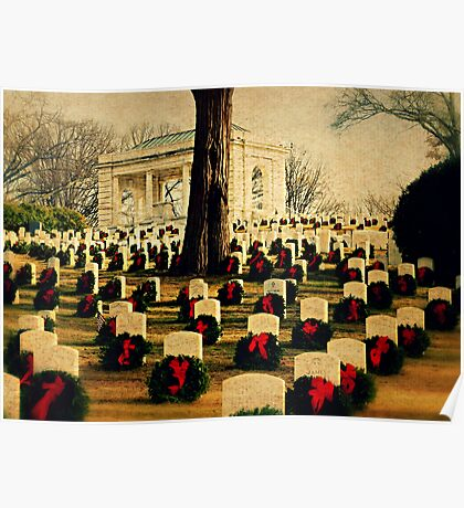 Christmas time at the federal cemetery - Marietta, Ga Poster