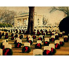 Christmas time at the federal cemetery - Marietta, Ga Photographic Print