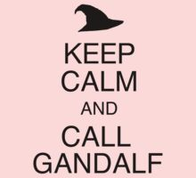 Keep Calm and Call Gandalf Kids Clothes