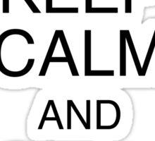 Keep Calm and Call Gandalf Sticker