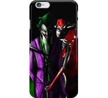 Harley quinn and joker iPhone Case/Skin