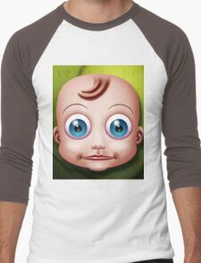 Baby Doll Head... Men's Baseball ¾ T-Shirt