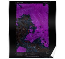 USGS Topo Map Washington State WA Forbidden Peak 241150 1963 24000 Inverted Poster