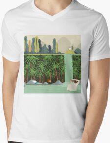 Falls Mens V-Neck T-Shirt
