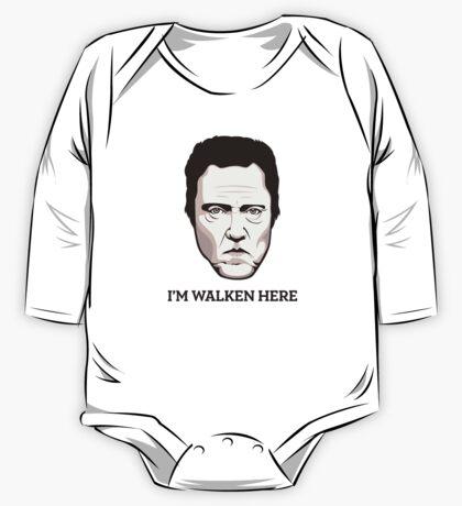 """Christopher Walken - """"Walken Here"""" T-Shirt One Piece - Long Sleeve"""