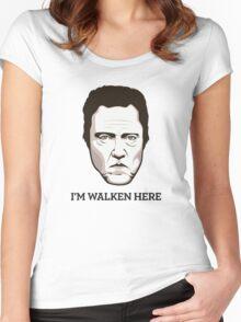 "Christopher Walken - ""Walken Here"" T-Shirt Women's Fitted Scoop T-Shirt"