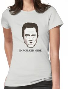 "Christopher Walken - ""Walken Here"" T-Shirt Womens Fitted T-Shirt"