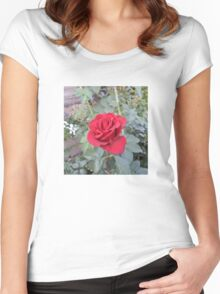 flower rose Women's Fitted Scoop T-Shirt