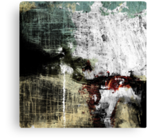 ANGEL COVERED BY THE MANKIND´S GRIME AND EXPLODING ON THE CONCRETE FLOOR WITH FAREWELL TEARS Canvas Print