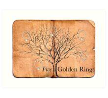 Five Golden Rings Art Print