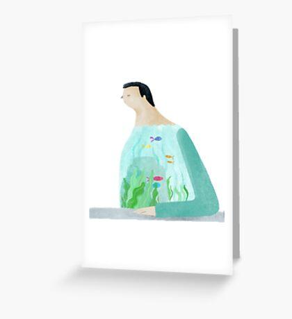 Be A Fish Tank Greeting Card