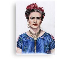 Hommage to Frida Kahlo Canvas Print
