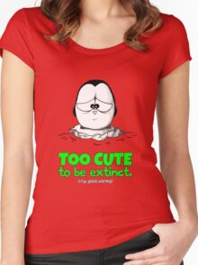 Too Cute To Be Extinct v.2 Women's Fitted Scoop T-Shirt