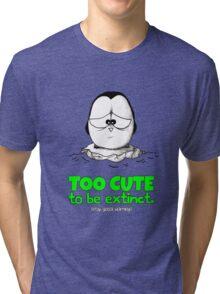 Too Cute To Be Extinct v.2 Tri-blend T-Shirt