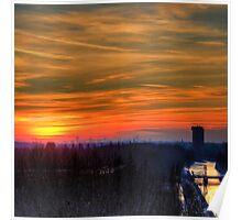 Sunset over Leiden Poster
