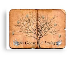 6 Geese A-Laying Canvas Print