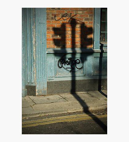 Traffic lights shadow Photographic Print