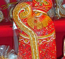 St. Nicholas Cookies for sale at the Christmas Market. by Lee d'Entremont
