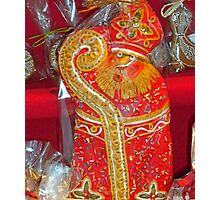 St. Nicholas Cookies for sale at the Christmas Market. Photographic Print