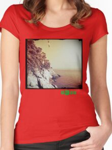 Free - T.shirt green caption Women's Fitted Scoop T-Shirt
