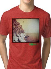 Free - T.shirt green caption Tri-blend T-Shirt