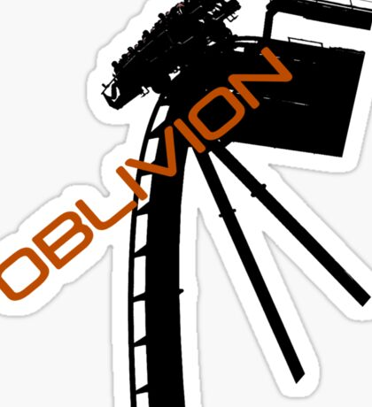 Oblivion - Alton towers Sticker