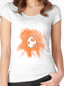 Orange Yoshi Egg Women's Fitted Scoop T-Shirt