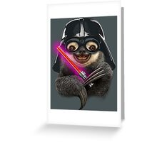 DARTH SLOTH Greeting Card