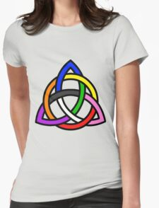 Gay Pride - Triquetra - (Designs4You) Womens Fitted T-Shirt