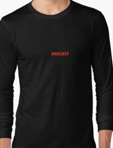 Ducati Red Text Long Sleeve T-Shirt