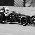 Black and White Austin 7 Special by Steve James