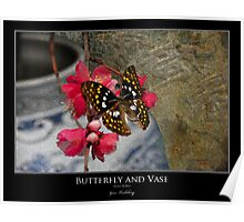 Butterfly and Vase Poster