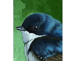 Little Bird - iPhone case animal painting by LindaAppleArt