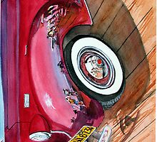 Reflections On A '38 Packard - IPhone Case by Rob Beilby