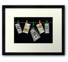 Laundered Money Framed Print