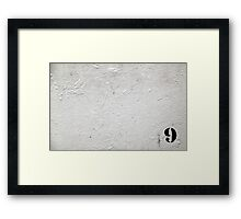 Only 9 Framed Print