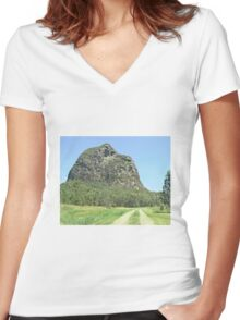 Track towards Tibro Women's Fitted V-Neck T-Shirt