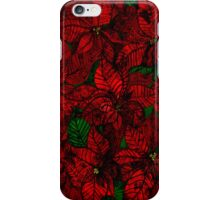 Red floral iPhone Case/Skin