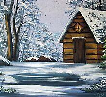 Cabin in Winter by teresa731