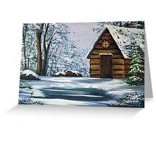Cabin in Winter Greeting Card