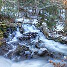 Carbide Ruins waterfalls - Gatineau Parc - Quebec, Canada by Josef Pittner