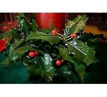 The Holly and The Berries Photographic Print