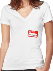 My Name Is Dentarthurdent Women's Fitted V-Neck T-Shirt