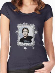 "Alan Rickman Fandesign ""Starshine"" Women's Fitted Scoop T-Shirt"