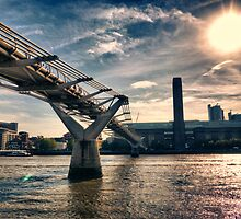 Millennium Bridge, London by Abtin Eshraghi