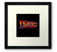 NOW IS THE FUTURE - Logo 21/Oct/2015 Framed Print