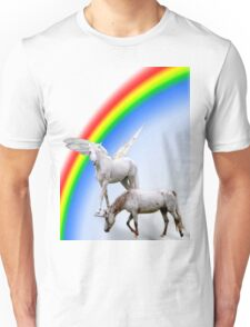 Unicorn & Pegasus rainbow Unisex T-Shirt