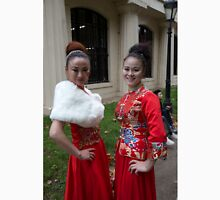 Chinese ladies in traditional dress in the mall Unisex T-Shirt