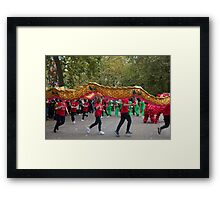 Chinese dragon in the mall London Framed Print